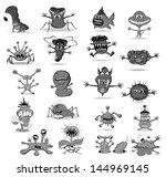 set of funny monsters   Shutterstock .eps vector #144969145