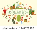 gardening banner vector... | Shutterstock .eps vector #1449702137