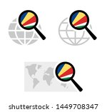 search icons with seychelles... | Shutterstock .eps vector #1449708347
