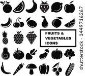 fruit and vegetables vector... | Shutterstock .eps vector #1449716267