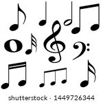 note melody set white... | Shutterstock . vector #1449726344