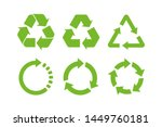 recycle icon symbol vector.... | Shutterstock .eps vector #1449760181
