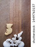 Seahorse Cookie On Wooden Tray...