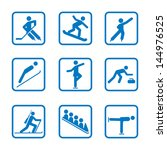 winter sport icon set. winter...