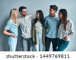 group of young people isolated... | Shutterstock . vector #1449769811