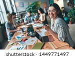 group of young business people... | Shutterstock . vector #1449771497
