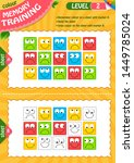 memory game children and adult. ... | Shutterstock .eps vector #1449785024