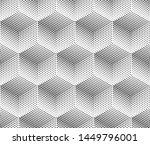 seamless monochrome 3d cubes...   Shutterstock .eps vector #1449796001
