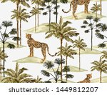 beautiful tropical vintage... | Shutterstock .eps vector #1449812207