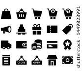e commerce icons set  vector...   Shutterstock .eps vector #1449823991