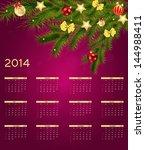 2014 new year calendar vector... | Shutterstock .eps vector #144988411