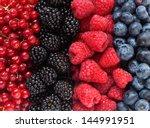 mix of different berries | Shutterstock . vector #144991951