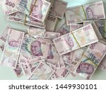 turkish lira  turkish money  ... | Shutterstock . vector #1449930101