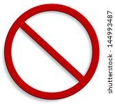 forbidden sign isolated on white | Shutterstock .eps vector #144993487