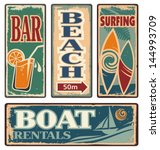 Vintage Summer Holiday Signs....