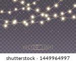 christmas lights isolated on... | Shutterstock .eps vector #1449964997