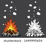illustration of campfire in 2...   Shutterstock .eps vector #1449995654