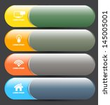 tab bar banner with icon. can... | Shutterstock .eps vector #145005001