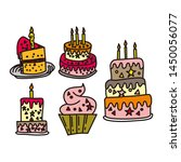 birthday cake design graphic... | Shutterstock .eps vector #1450056077
