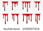 dripping paint set. dripping... | Shutterstock .eps vector #1450057424