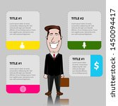 business infographic with a... | Shutterstock .eps vector #1450094417