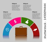 isolated business infographic... | Shutterstock .eps vector #1450094444