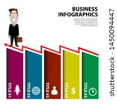 business infographic with a... | Shutterstock .eps vector #1450094447