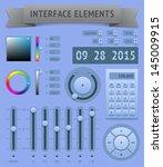 user interface elements. raster ...