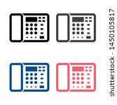 office telephone icon vector...
