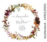 fall herbs selection vector... | Shutterstock .eps vector #1450125041