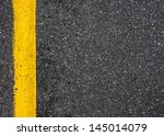 Yellow Line On The Road Textur...