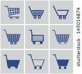 icons shopping cart. vector set.... | Shutterstock .eps vector #145014874