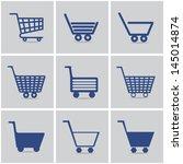 icons shopping cart. vector set....   Shutterstock .eps vector #145014874