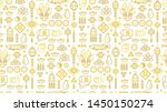vector seamless pattern with... | Shutterstock .eps vector #1450150274