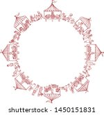marketplace round frame with... | Shutterstock .eps vector #1450151831