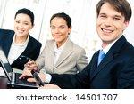 portrait of confident boss... | Shutterstock . vector #14501707
