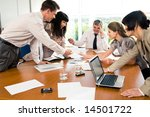 professionals gathered together ... | Shutterstock . vector #14501722