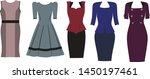 set of vector dresses. color... | Shutterstock .eps vector #1450197461