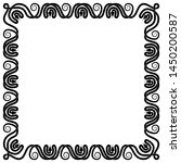black and white square frame of ... | Shutterstock . vector #1450200587