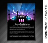 beautiful shiny ramadan kareem... | Shutterstock .eps vector #145020541