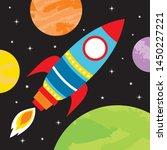 colorful illustration rocket... | Shutterstock .eps vector #1450227221