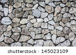 texture of the stone wall | Shutterstock . vector #145023109