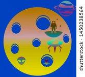 illustration wallpapers  blur... | Shutterstock . vector #1450238564