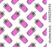 bottle with massage oil ... | Shutterstock .eps vector #1450252454
