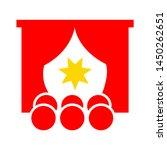 theater curtain icon. logo...   Shutterstock .eps vector #1450262651
