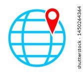 global pointer icon. logo... | Shutterstock .eps vector #1450264364