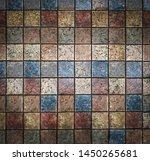 multi colored stone tiles on... | Shutterstock . vector #1450265681