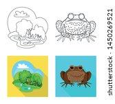 vector illustration of wildlife ... | Shutterstock .eps vector #1450269521