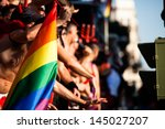 gay and lesbians walk in the... | Shutterstock . vector #145027207