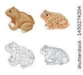 vector illustration of wildlife ... | Shutterstock .eps vector #1450274204